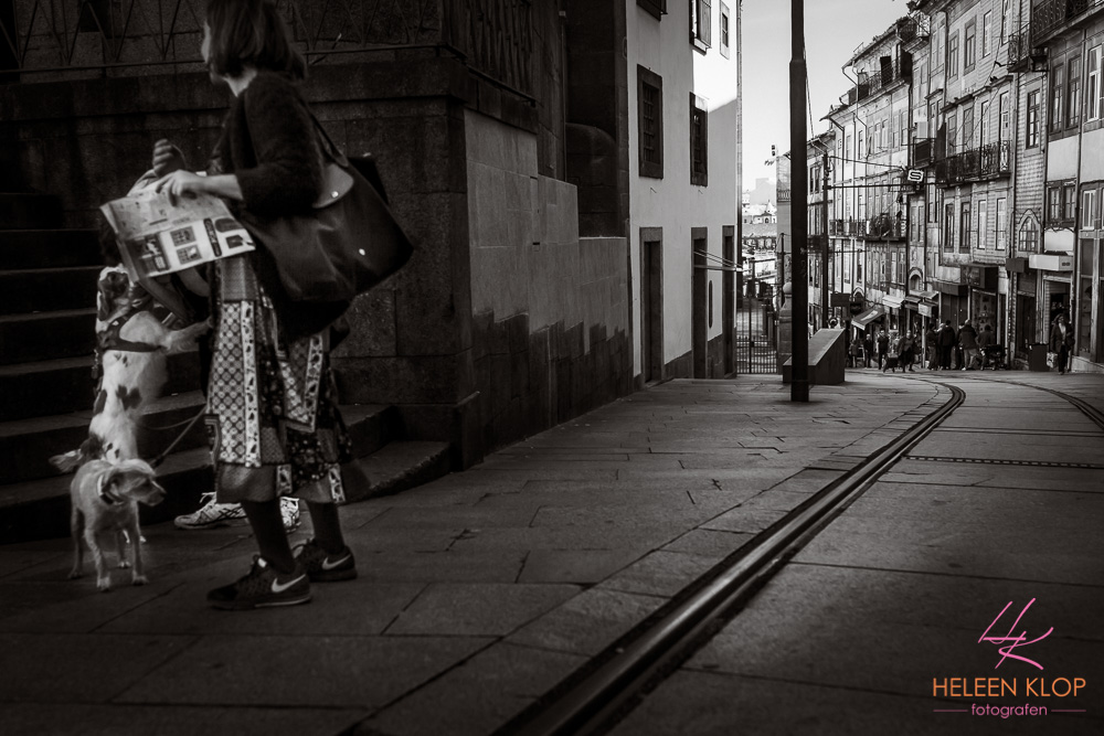 Trata met tramrails Porto Portugal