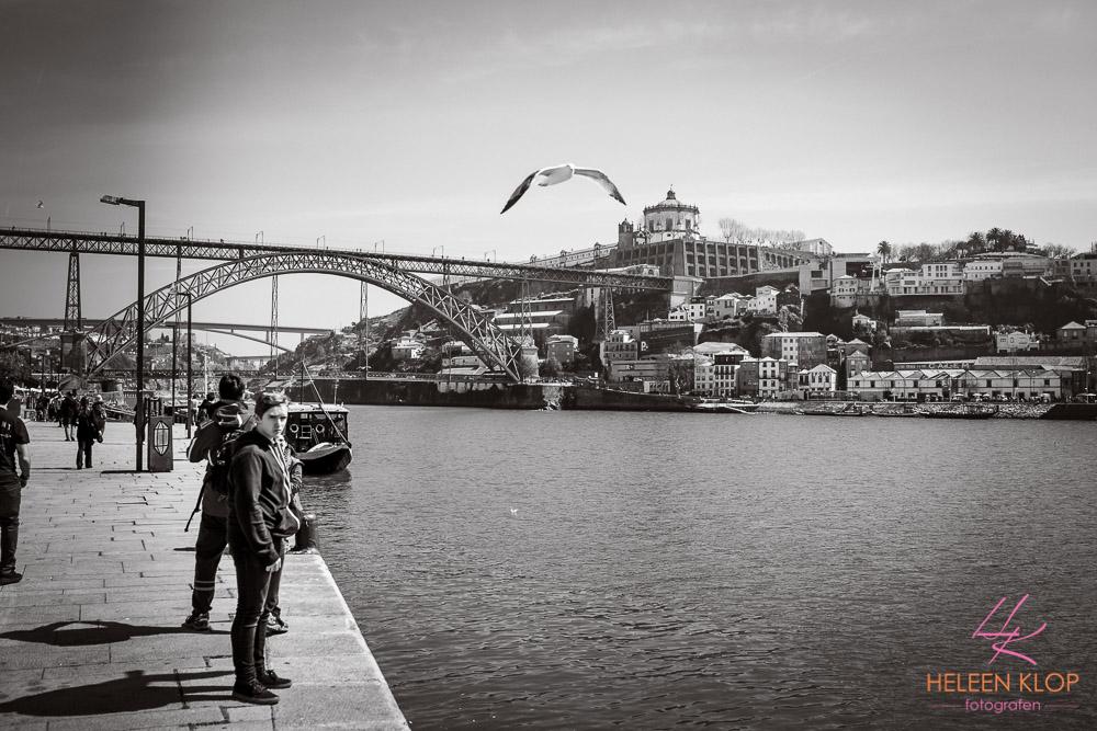 Luis I-brug Porto Portugal