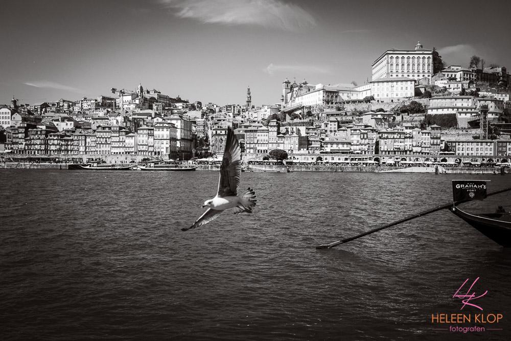 Zicht op Porto Portugal