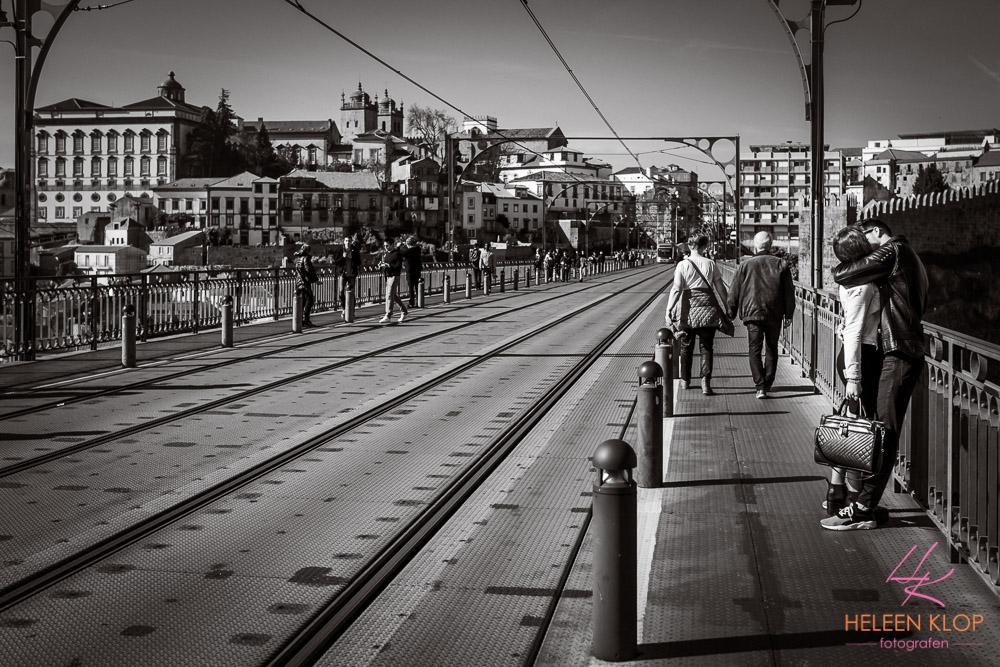 Bovenkant brug Porto Portugal