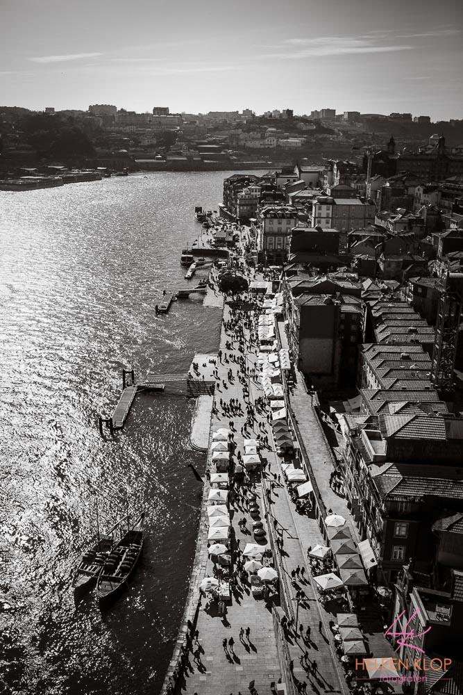 Uitzicht vanaf de brug Porto Portugal