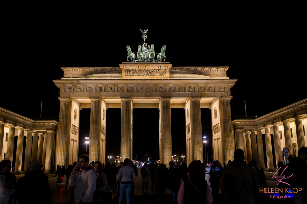 Brandenburger Tor By Night Berlijn