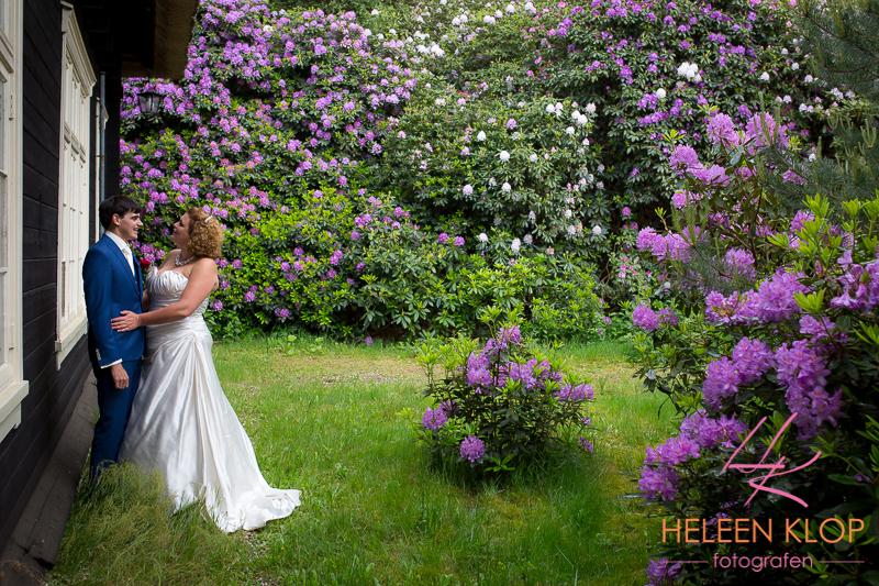 Trouwen in Leersum met Rododenderons