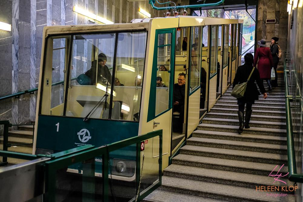 Tram naar Petřín in Praag
