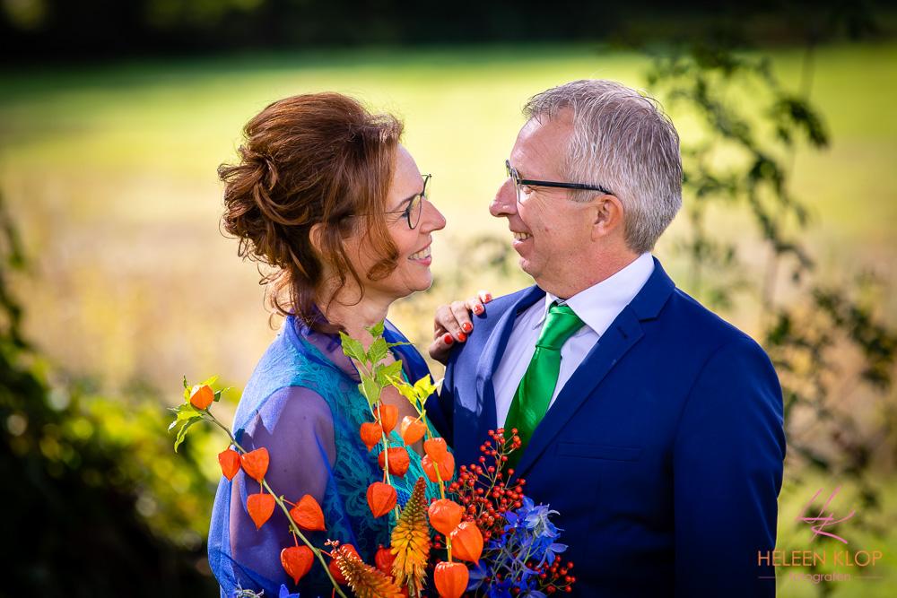 Bruidsreportage in het park