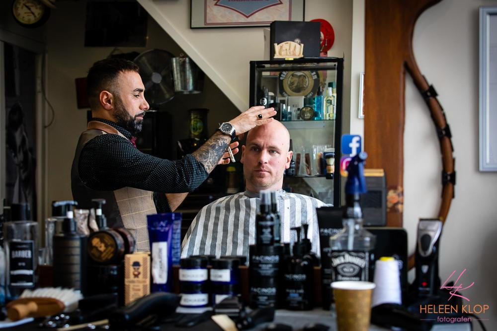 Bruidegom bij Barbier