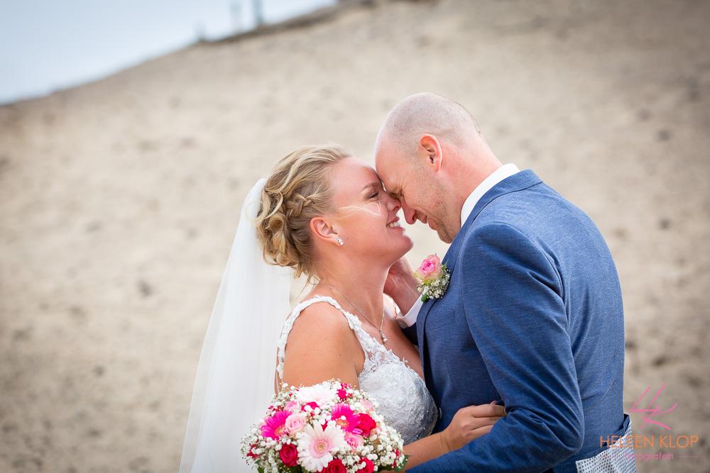 Bruidsreportage op het strand