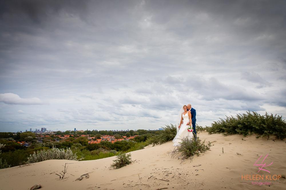 Bruidspaar Skyline Den Haag