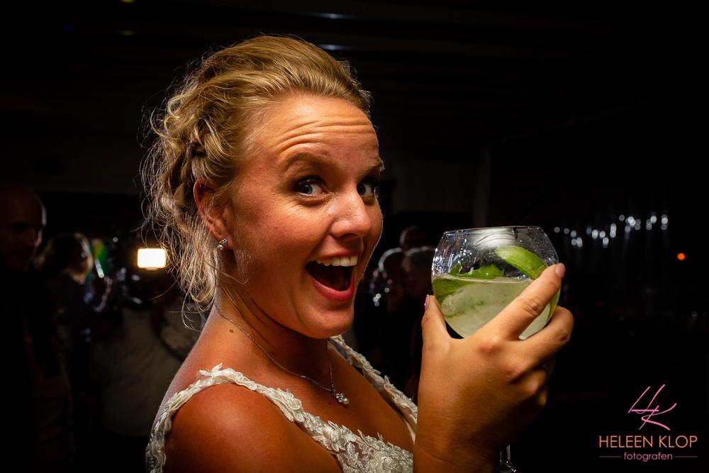 Bruid met Gin Tonic