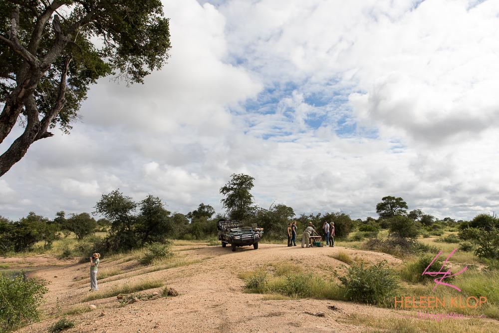 Koffie in de bush tijdens fotosafari zuid-afrika